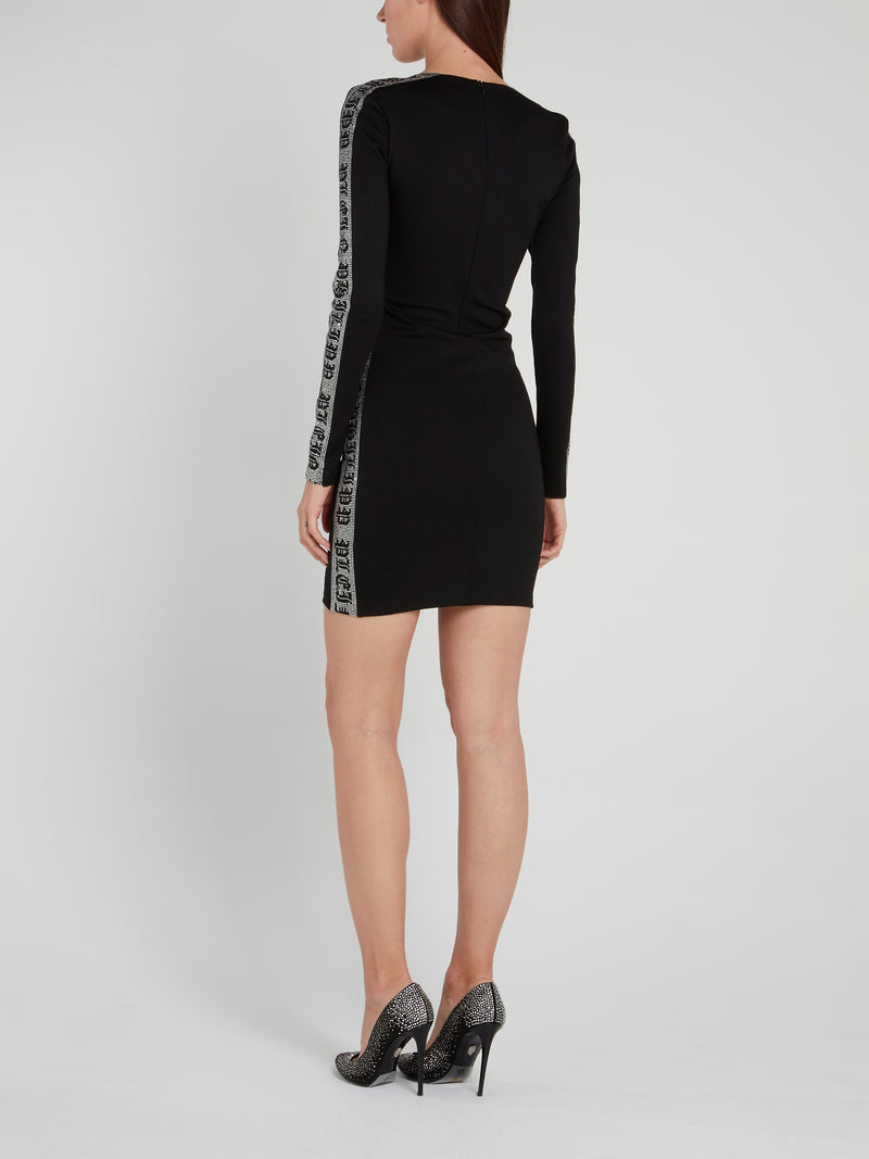 Gothic Side Studded Bodycon Dress