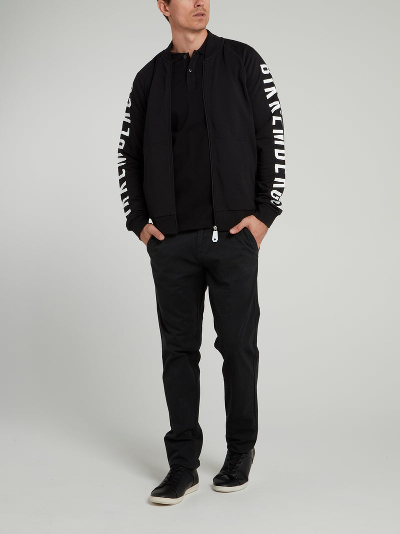 Black Logo Sleeve Jacket