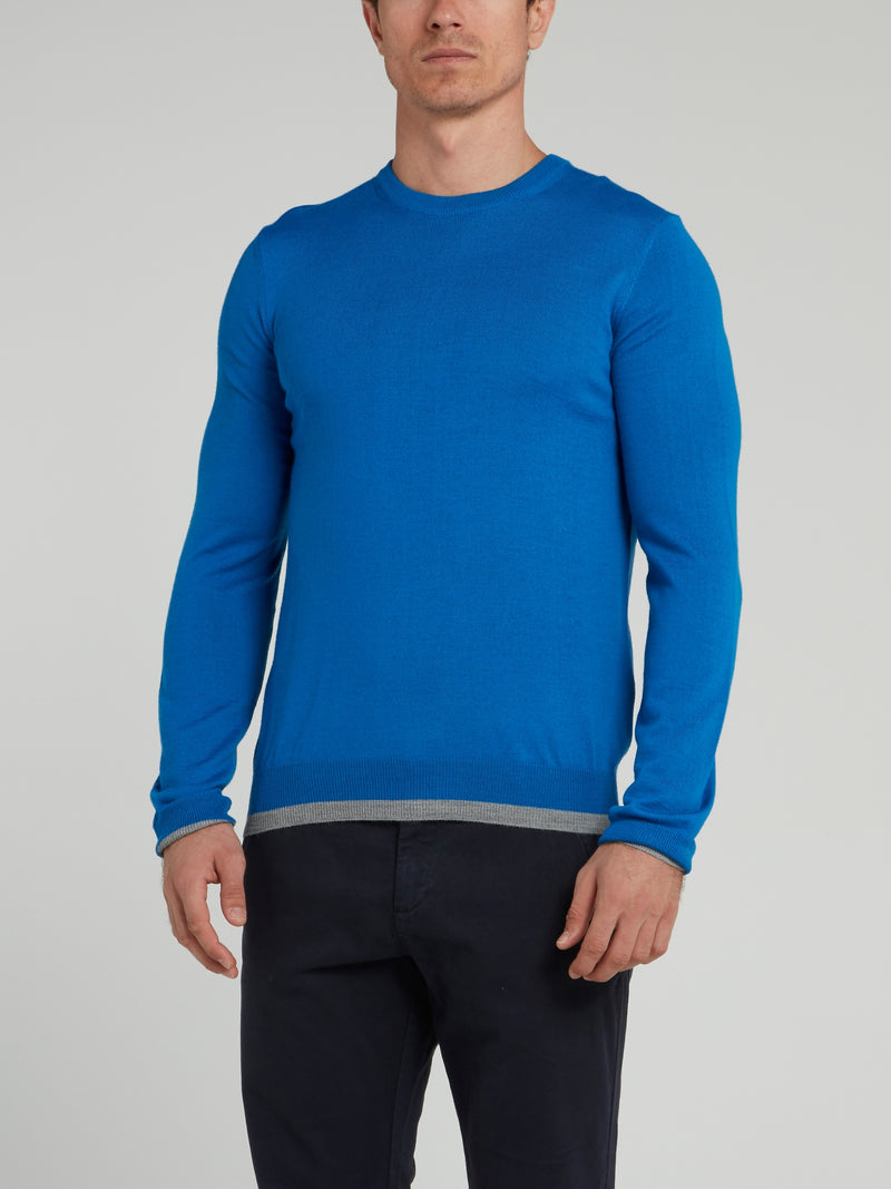 Blue Rear Logo Sweater