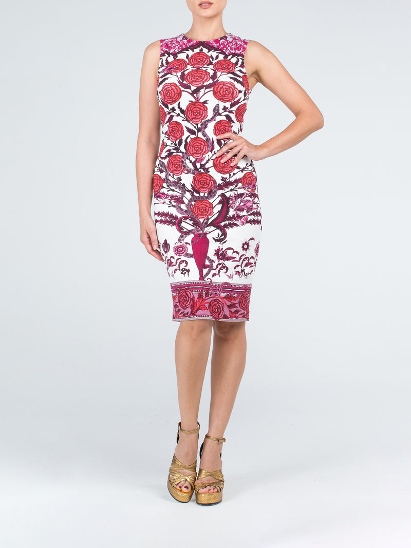 Floral Printed Pencil Sheath Dress