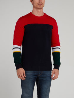 Colour Block Knitted Pullover