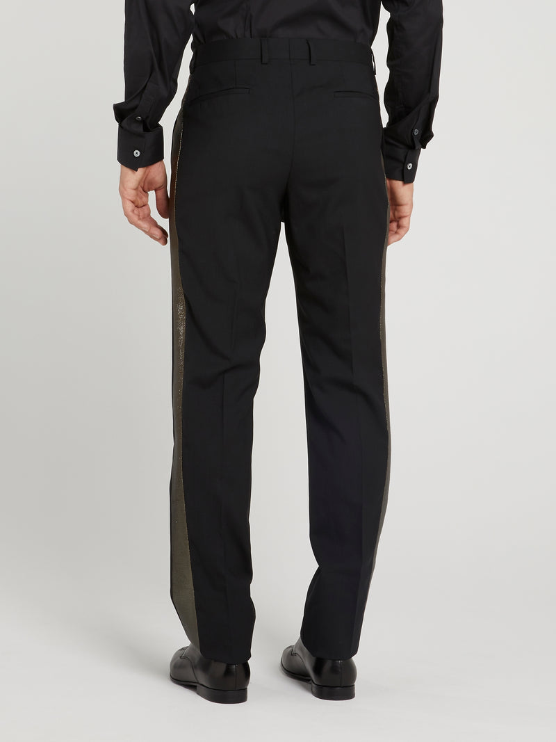 Metallic Side Stripe Trousers