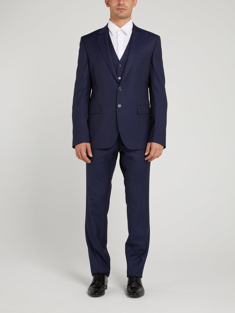 Navy Two-Button Suit