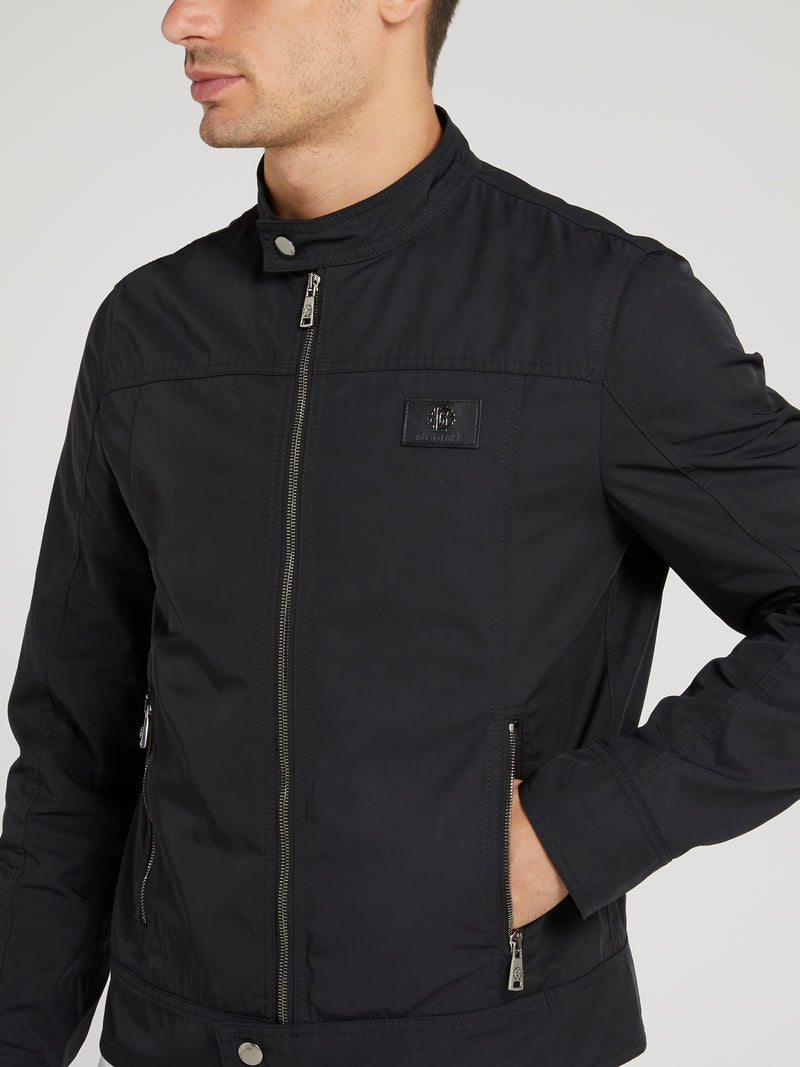 Black Clasp Neck Jacket