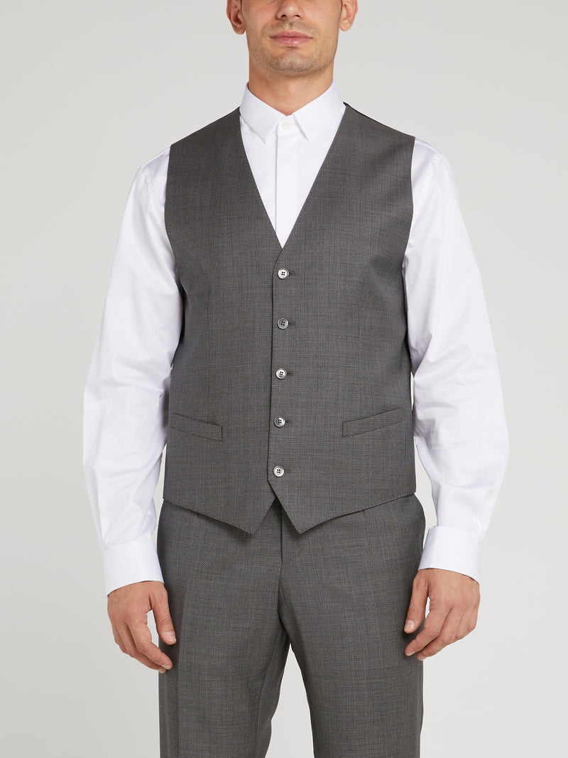 Grey Two-Button Suit