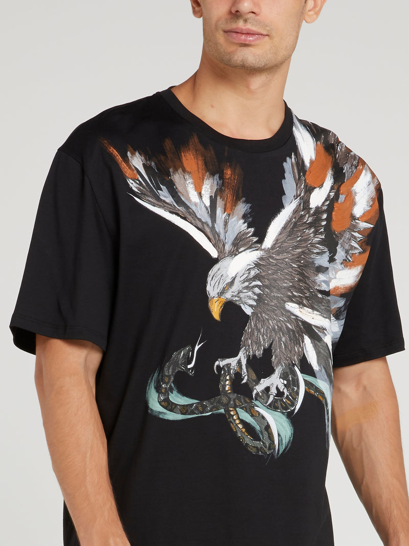 Black Eagle Print T-Shirt