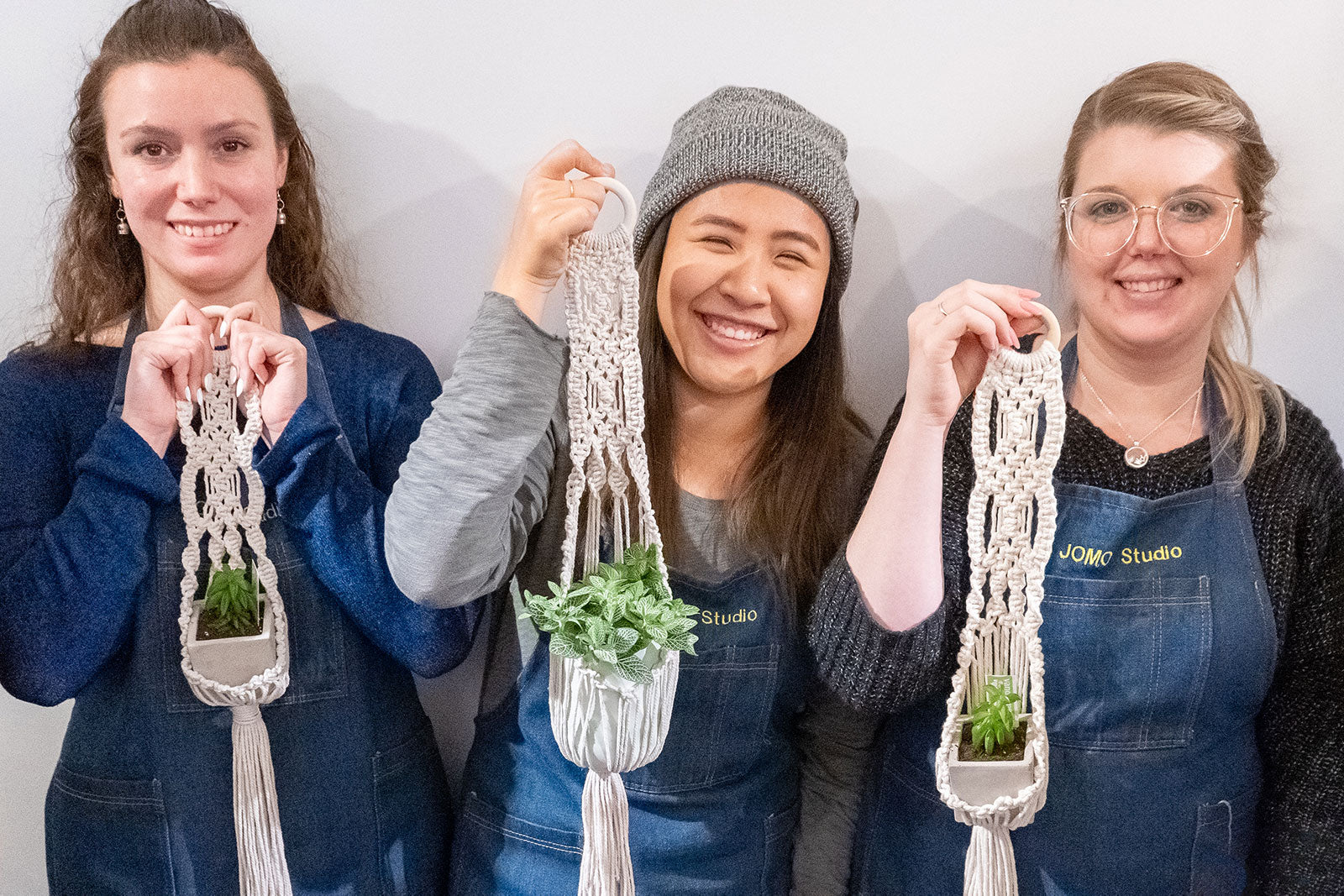 Toronto Macrame Workshop - Plant Hanger Knotting - JOMO Studio