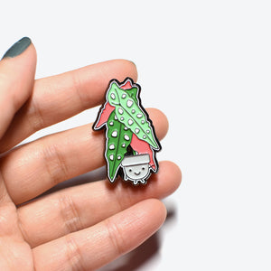 Begonia Soft Enamel Pin - Home by Faith - House Plants Delivery Toronto - JOMO Studio