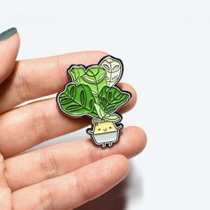 Fiddle Leaf Fig Soft Enamel Pin - Home by Faith - House Plants Delivery Toronto - JOMO Studio