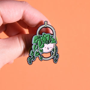 Heart leaf Philodendron Soft Enamel Pin - Home by Faith - House Plants Delivery Toronto - JOMO Studio