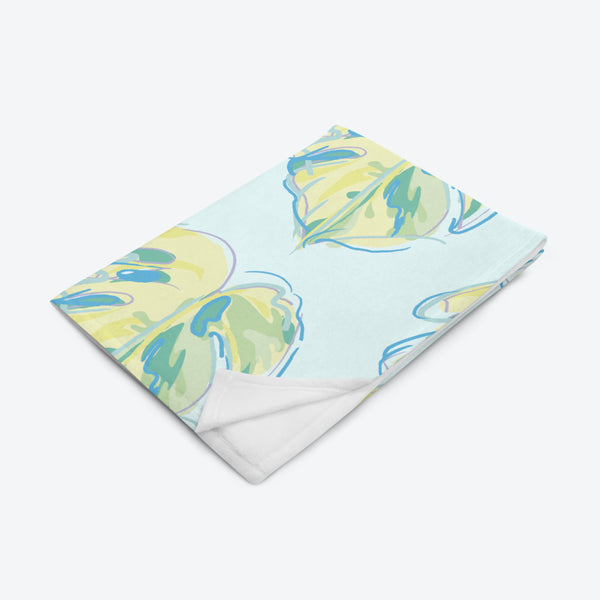 Monstera Throw Blanket - JOMO Original - JOMO Studio