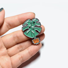 Load image into Gallery viewer, Monstera Soft Enamel Pin - Home by Faith - House Plants Delivery Toronto - JOMO Studio