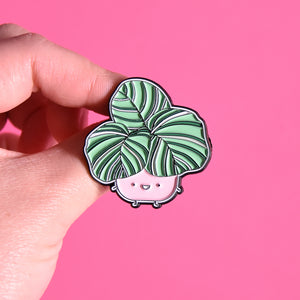 Calathea Orbifolia Soft Enamel Pin - Home by Faith - House Plants Delivery Toronto - JOMO Studio