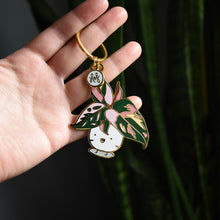 Load image into Gallery viewer, Pink Princess Philodendron Keychain - Home by Faith - House Plants Delivery Toronto - JOMO Studio