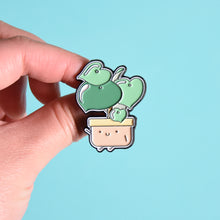 Load image into Gallery viewer, Raindrop Peperomia Soft Enamel Pin - Home by Faith - House Plants Delivery Toronto - JOMO Studio