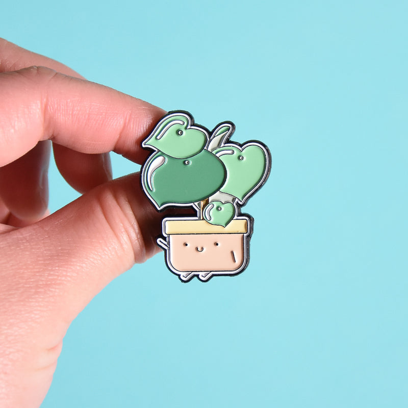 Raindrop Peperomia Soft Enamel Pin - Home by Faith - House Plants Delivery Toronto - JOMO Studio