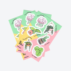 Vinyl Sticker Sheet - Home by Faith - House Plants Delivery Toronto - JOMO Studio