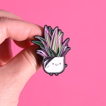 Load image into Gallery viewer, Tradescantia spathacea Soft Enamel Pin - Home by Faith - House Plants Delivery Toronto - JOMO Studio