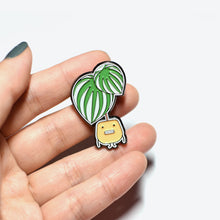 Load image into Gallery viewer, Watermelon Peperomia Soft Enamel Pin - Home by Faith - House Plants Delivery Toronto - JOMO Studio