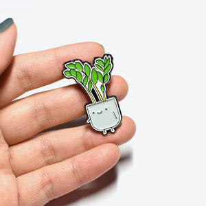 ZZ Plant Soft Enamel Pin - Home by Faith - House Plants Delivery Toronto - JOMO Studio
