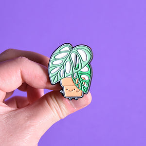 Monstera adansonii Soft Enamel Pin - Home by Faith - House Plants Delivery Toronto - JOMO Studio
