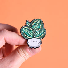 Load image into Gallery viewer, Calathea Medallion Soft Enamel Pin - Home by Faith - House Plants Delivery Toronto - JOMO Studio