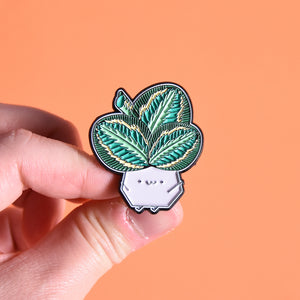 Calathea Medallion Soft Enamel Pin - Home by Faith - House Plants Delivery Toronto - JOMO Studio