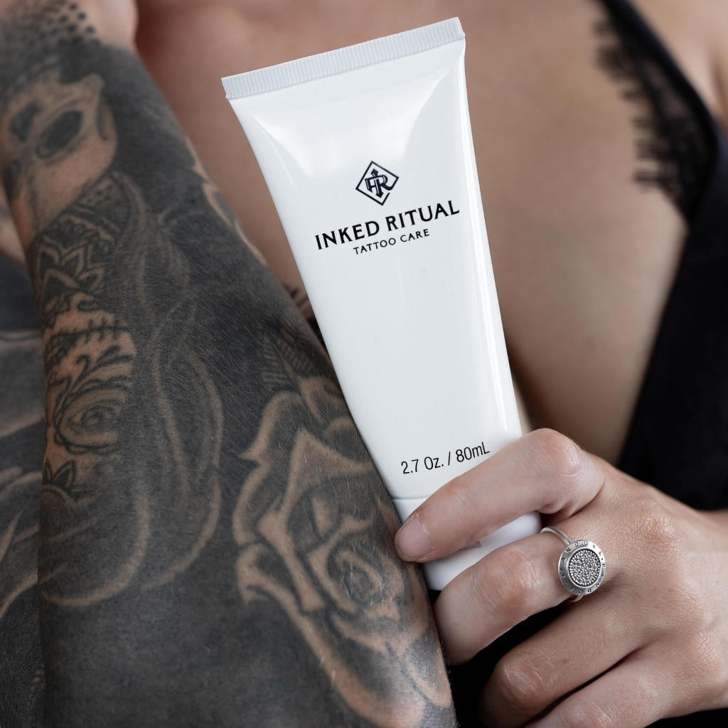 Inked Ritual Tattoo Care Enhances Tattoos With Brighter Colors And Blacker Blacks Results That Last All Day And Never Wash Off