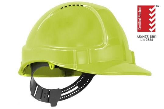 TUFF-NUT® Hard Hat, Short Peak, Vented, 6-point Ratchet harness