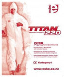 TITANÂ ® 220 Spunbound Polypropylene Coverall, White