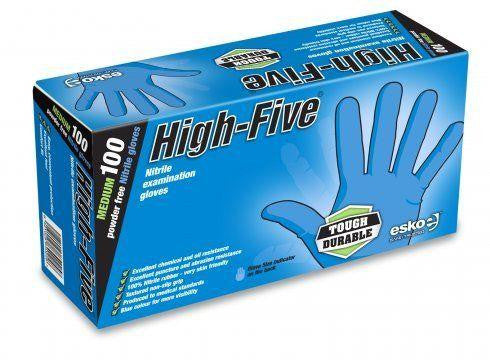 Disposable Gloves Blue Nitrile Industrial Powder Free
