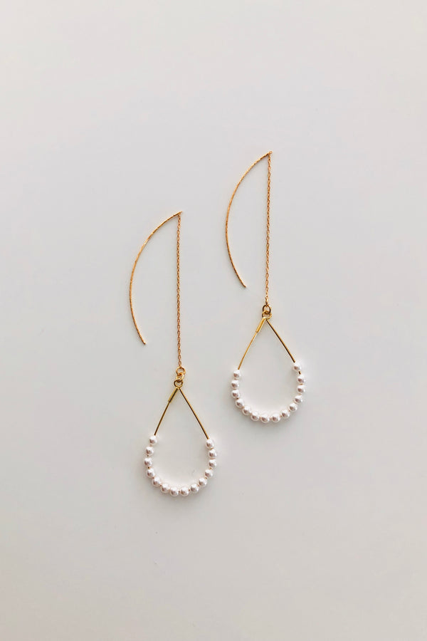Swarovski Pearl Tear Drop Dangle Earrings