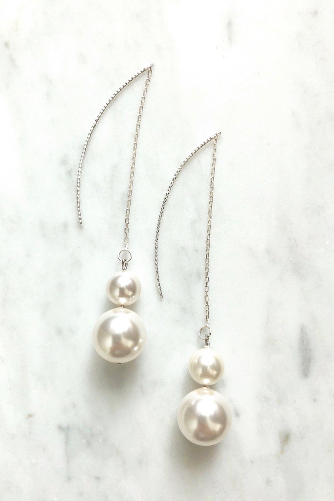 Swarovski Double Pearl Earrings