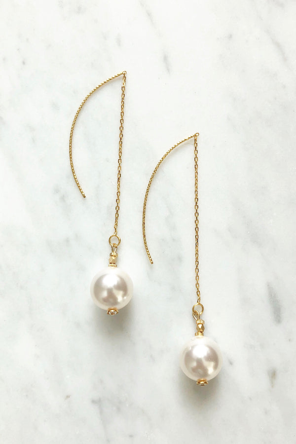 Swarovski Single Pearl Earrings
