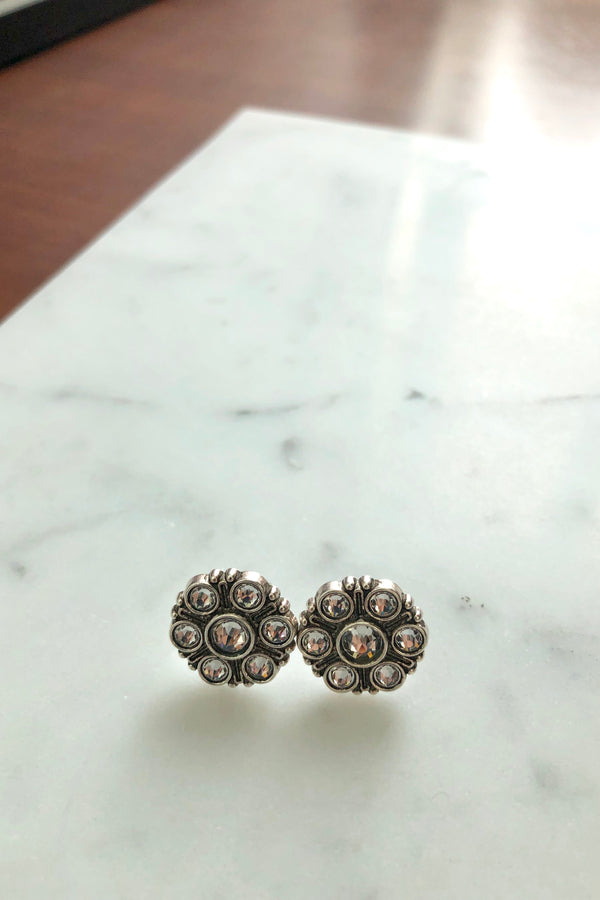 Lotus Modern Vintage Stud Earrings
