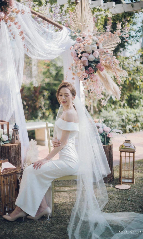 Two Tier Chapel Length Veil