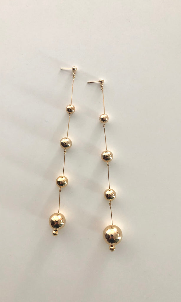 Gold Bubbles Terrain Earrings