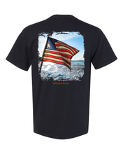 Load image into Gallery viewer, Lakation™ US Boat Flag Pocket T-Shirt