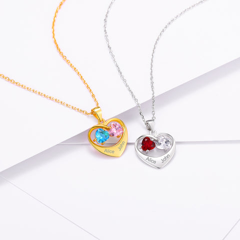 Custom4ufashion Birthstone Necklace For Mom