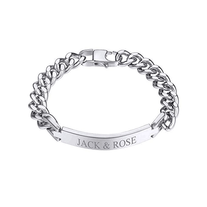 Engraved ID Name Chain Bracelet