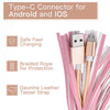 2-in-1 Tassel Lightning Charging Cable Keyring For iPhone & Android