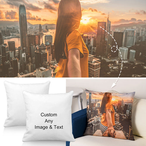 "Personalized Throw Pillow Cases for Mom, Car Bedroom Accessories 20"" 30"", Can Custom Any Image"