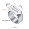 316L Stainless Steel Personalized Engraving Arrow Band Ring For Men