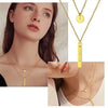 316L Stainless Steel Personalized Multilayers Tassel Coin Bar Necklace