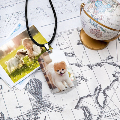 Personalized Photo Wax Rope Army Dog Tag