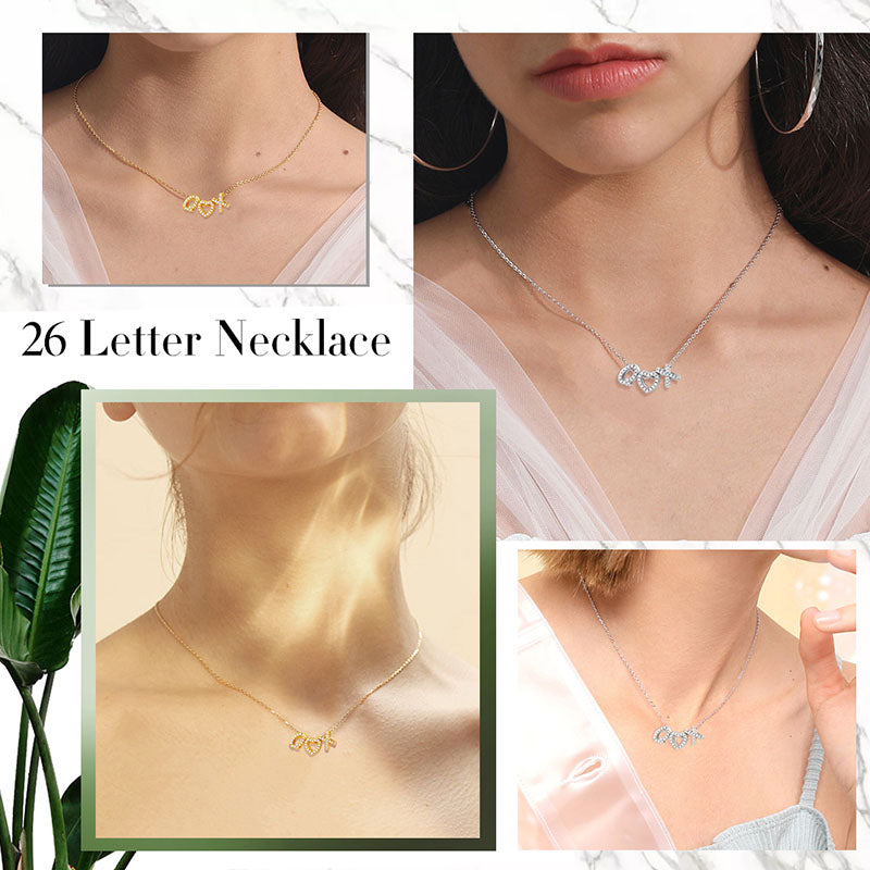 CZ Minimalist Tiny Name Necklace Personalized Initials Choker For Her