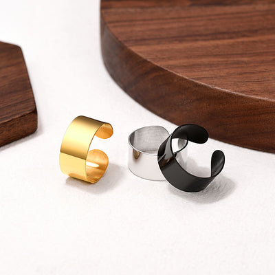 5MM / 10MM / 17MM 316L Stainless Steel Soomth Surface Band Ring