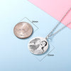 925 Sterling Silver Custom Engraved Photo Necklace Personalized Gifts