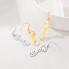925 Sterling Silver Personalized Script Name Infinity Dangle Earrings