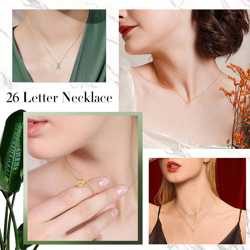 CZ Minimalist Tiny Initial Necklace, Personalized Letter Choker For Her